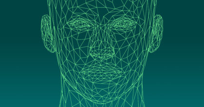 low poly female head wireframe – source : GDJ / openclipart