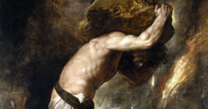 Sisyphe, peinture du Titien – musée du Prado – commons wikimedia