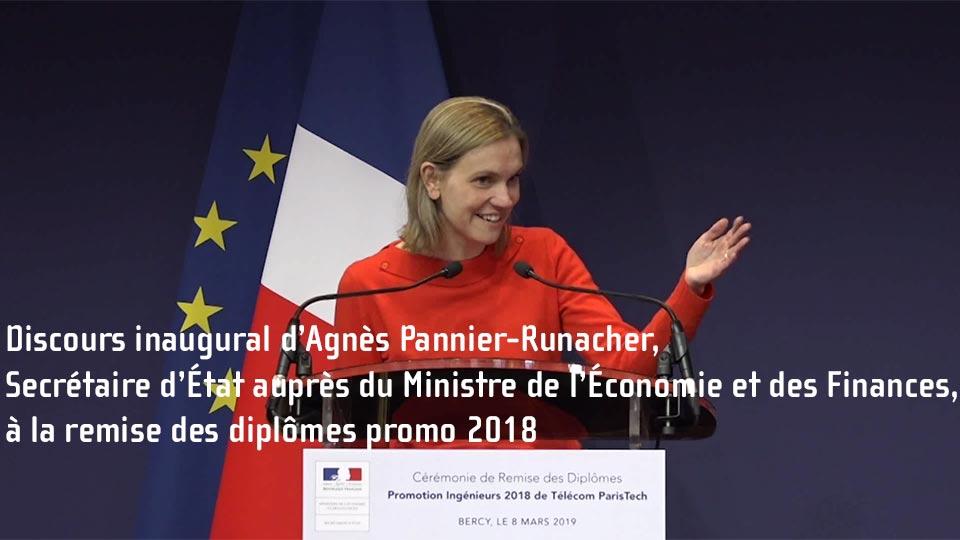 Discours inaugural d'Agnès Pannier-Runacher à la remise des diplômes promo 2018