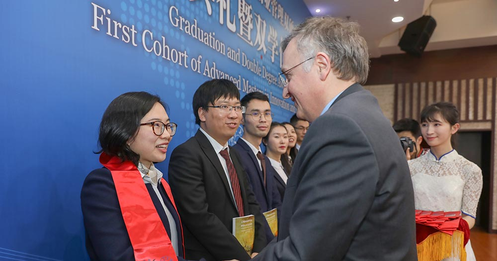 Sino-French Master's Program in Innovation & Entrepreneurship celebrates its first graduating cohort