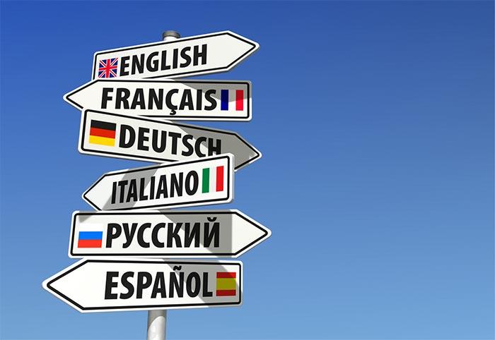 illustration : langues (panneaux)