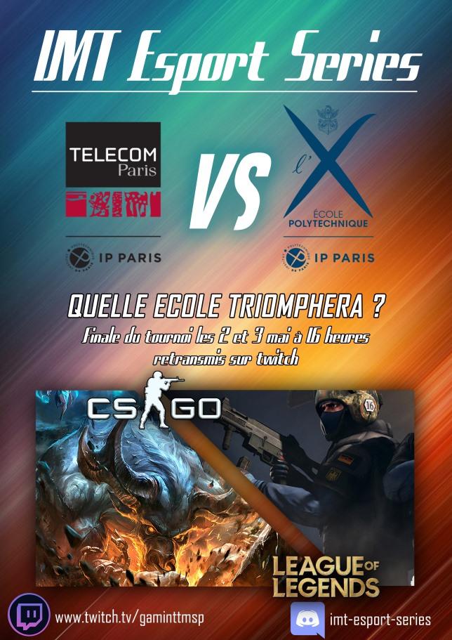 Finale IMT E-Sport : Télécom Paris vs. X