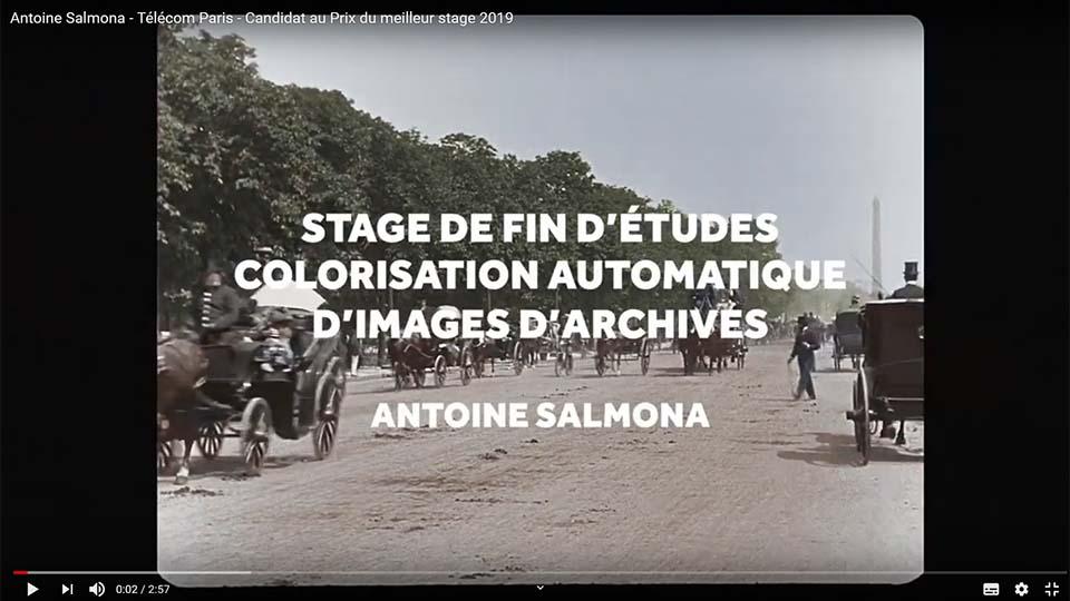 Antoine Salmona 1er prix de stage de la Fondation Mines-Télécom