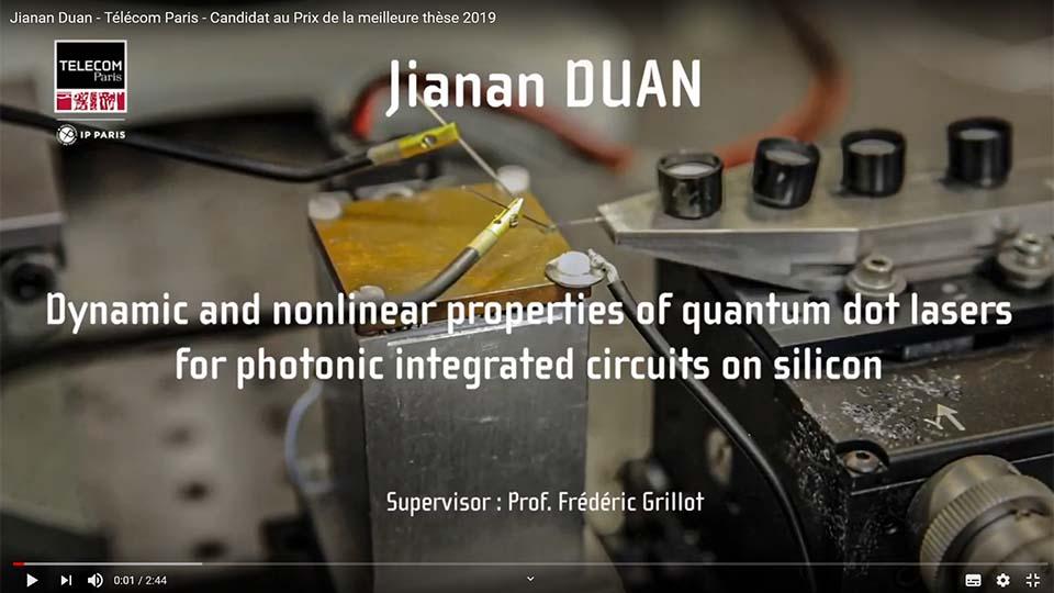 Jiana Duan 2e prix de thèse de la Fondation Mines-Télécom