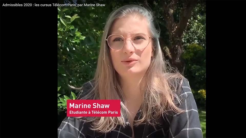 Admissibles : vidéo Marine Shaw