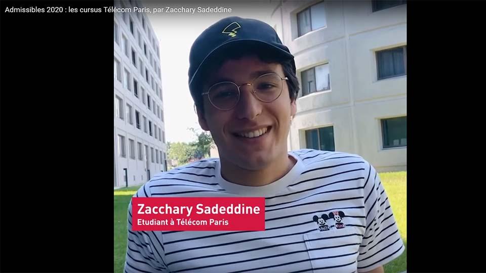 Admissibles : vodéo Zaccharie Sadeddine