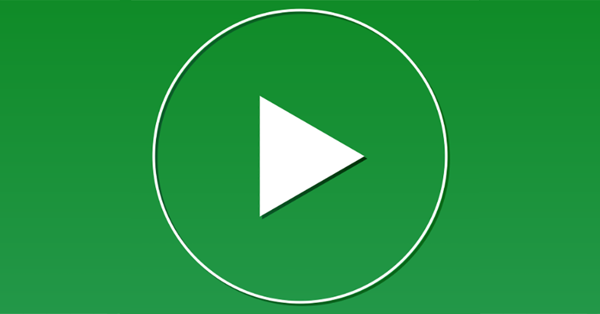 ullustration : bouton vert de lecture