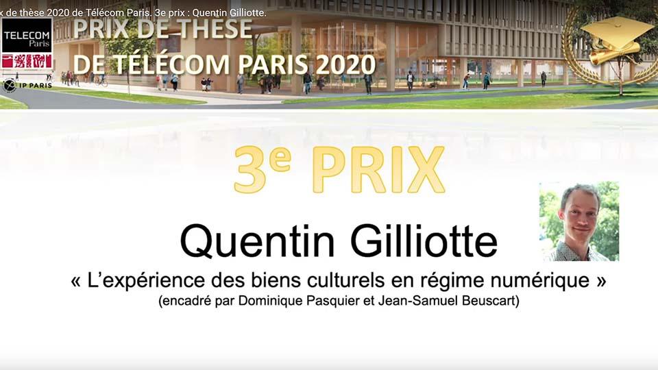 Prix de thèse 3 : Quentin Gilliotte