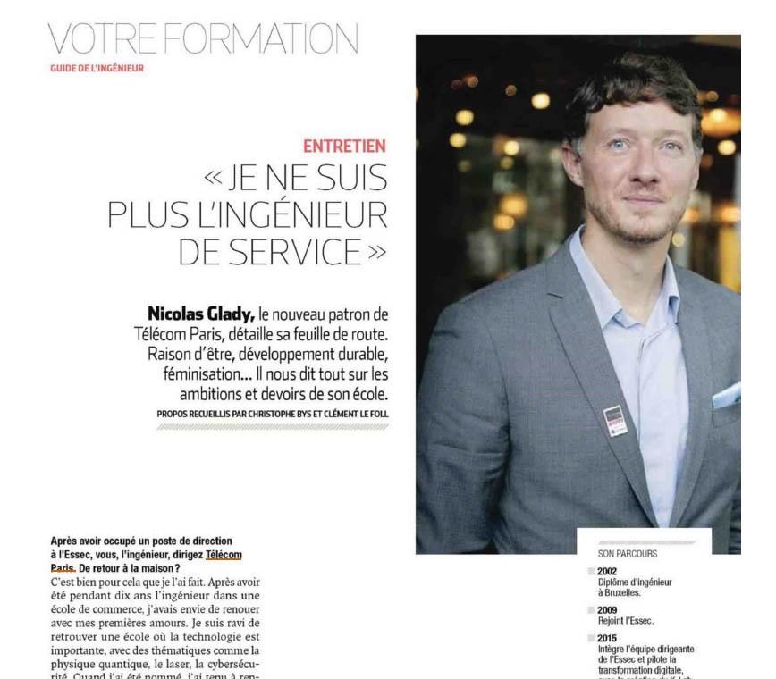 Extrait entrtien Nicolas Glady, L'Usine Nouvelle (hors série) 19/11/2020