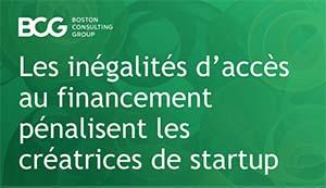 Les inégalités d'accès au financement pénalisent les créatrices de start-up - BCG/Sista