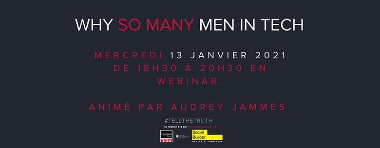 Webinaire 13/1 Why so many men in tech ?