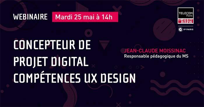 Webinaire MS Concepteur projet digital UX design