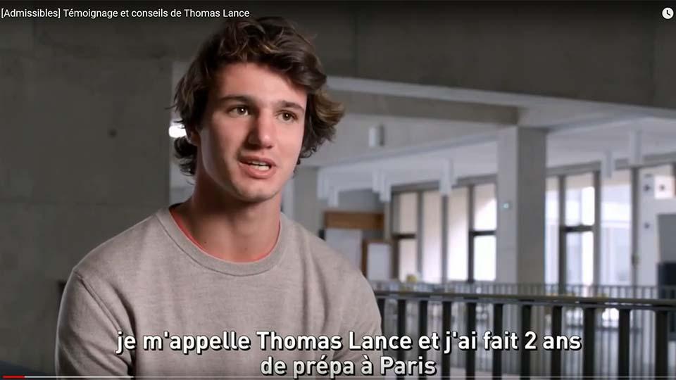 Admissibles : Thomas Lance