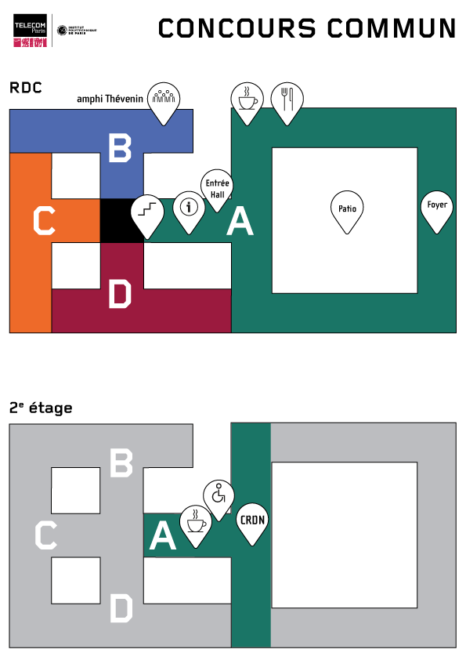 Admissibles : plan général RDC et 2e étage