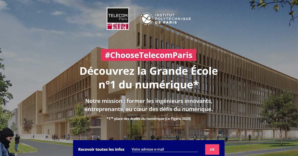 #ChooseTelecomParis : découve la 1re école du numérique
